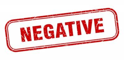 Naklejka negative stamp. negative square grunge red sign