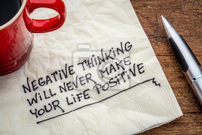 Naklejka negatywne myślenie i życie posifitive