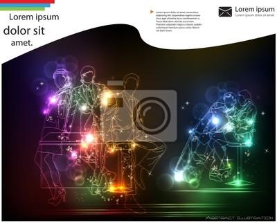 neon streszczenie szablon biznes