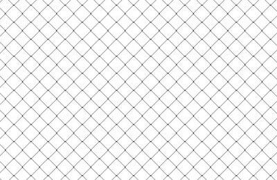 Naklejka Net texture pattern isolated on white background. Net texture pattern for backdrop and wallpaper. Net pattern background