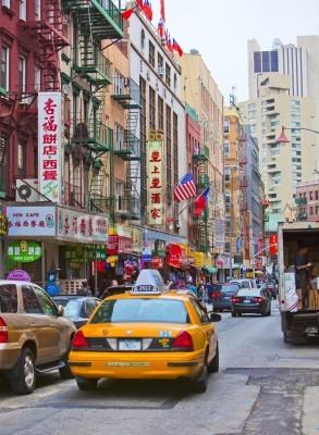 Naklejka NEW YORK - 18 kwietnia: Ulica w Nowym Jorku
