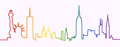 Naklejka New York City Gay-Friendly Skyline Profile