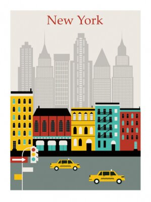 Naklejka New York city. Vector