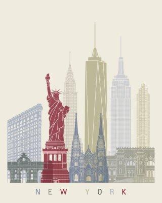 Naklejka New York Skyline Plakat