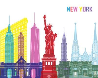 Naklejka New York skyline pop
