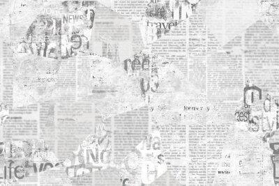 Naklejka Newspaper paper grunge vintage old aged texture background