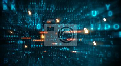 Naklejka Niebezpieczeństwo ataku hakerskiego