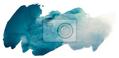 Naklejka niebieska plama akwareli