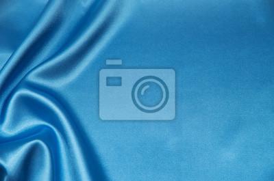Naklejka Niebieska satyna, jedwab, tekstura tło