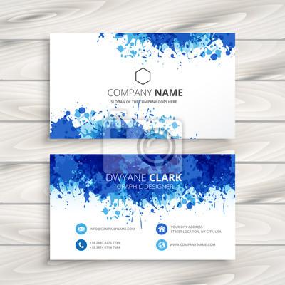 niebieski abstrakcyjne wizytówka