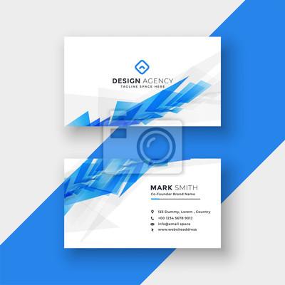 niebieski abstrakcyjny kształt szablonu projektu wizytówki