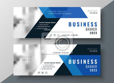 niebieski biznes profesjonalny baner z miejsca na obraz