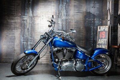 Naklejka niebieski chrom rower szosowy