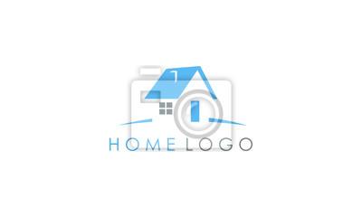 niebieskie logo domu