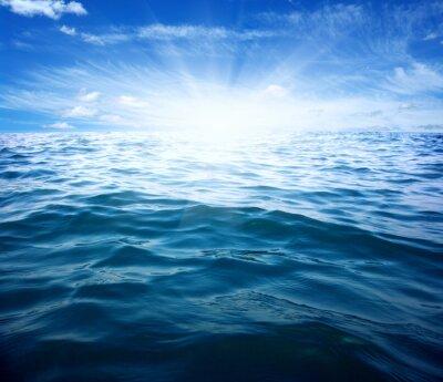 Naklejka Niebieskie morze i słońce