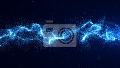 Naklejka Niebieskie tło graficzne zasilania energią.