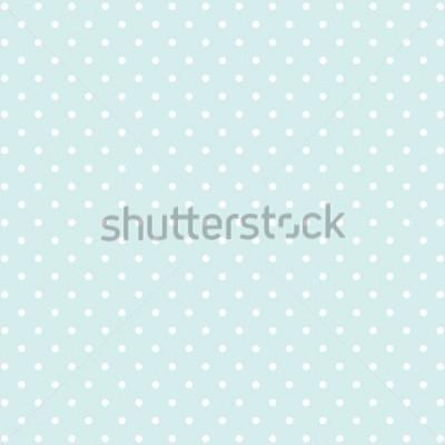 Naklejka niebieskie tło polka dot v2