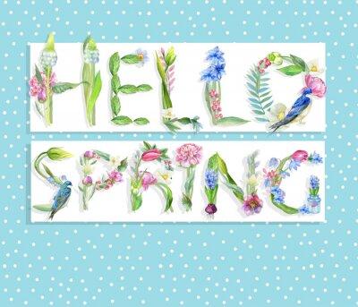 Niebieskie tło wiosna