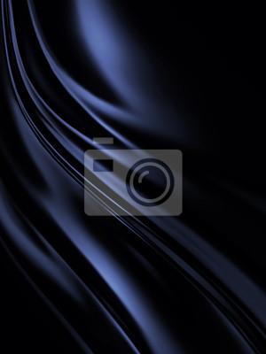 Naklejka niebiesko-czarny jedwab