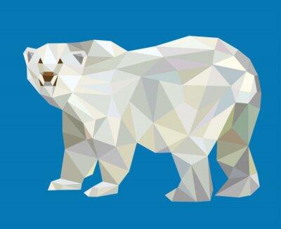 Naklejka Niedźwiedź polarny low poly wektorowe