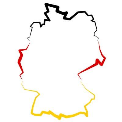 Naklejka Niemcy - mapa