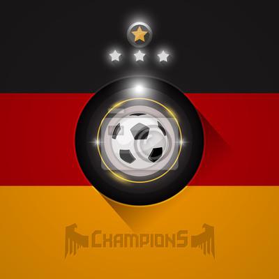 Niemcy mistrzami piłki nożnej flaga symbol