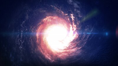 Naklejka Niesamowicie piękna galaktyka spiralna gdzieś w przestrzeni kosmicznej. Elementy tego zdjęcia dostarczone przez NASA