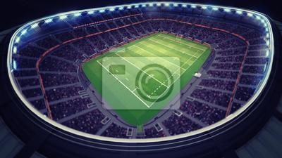 niesamowity stadion rugby z fanami pod dachem