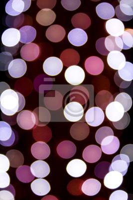 Niewyraźne kolorowe koła bokeh sygnalizatory christmas