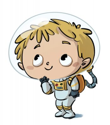 Naklejka niño astronauta