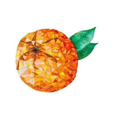 Naklejka Niska poli akwarela pomarańczowy