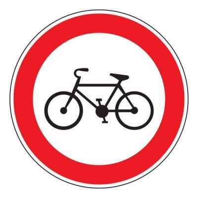 Naklejka no rowerów dozwolone podpisania