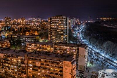 Naklejka Noc Burgas od 18 piętrze