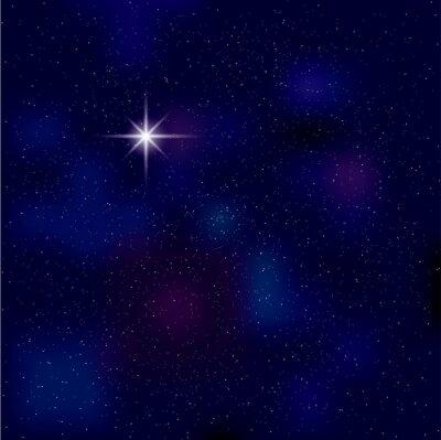 Naklejka Nocne niebo, Polaris na nocnym niebie, Tło używa narzędzia gradientu siatki.
