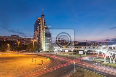 Naklejka Nocny widok z Burgas, Bułgaria