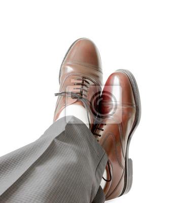 Nogi biznesmen samodzielnie na białym tle