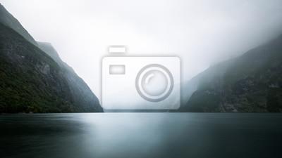 Naklejka Norwegia - Geiranger Fjord Landschaft