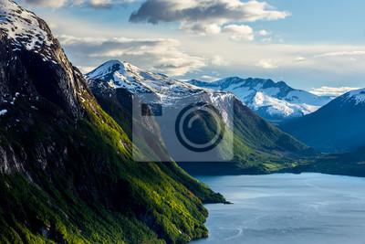 Naklejka norweski krajobraz