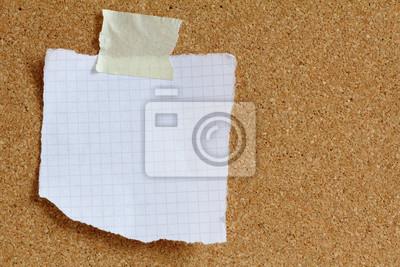 Notizzettel Kork Pinwand