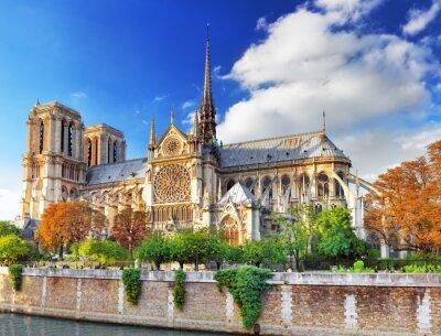 Naklejka Notre Dame de Paris Cathedral.Paris. Francja.