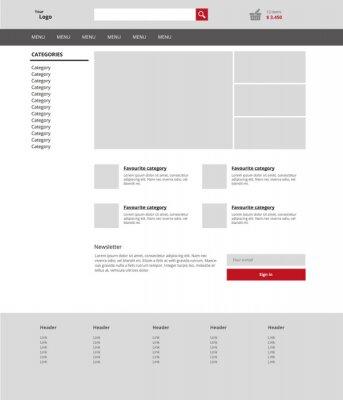 Nowoczesna grafika szablon działalności internetowej. Jasne webdesig