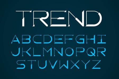 Nowoczesne cienkie czcionki, modny styl litery alfabetu angielskiego