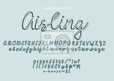 Nowoczesne czcionki kaligraficzne. Pędzlem malowane litery.