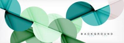 Naklejka Nowoczesne geometryczne abstrakcyjne tło - koła. Szablon projektu prezentacji biznesowych lub technologii, wzór broszury lub ulotki lub geometryczny baner internetowy