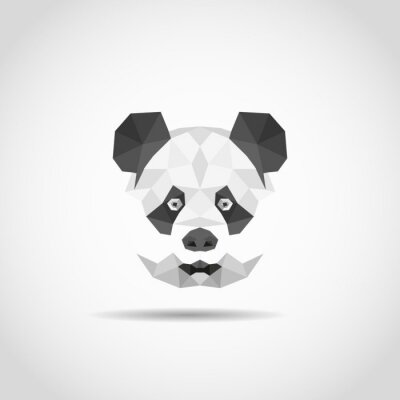 Naklejka Nowoczesne panda w stylu wielokąta