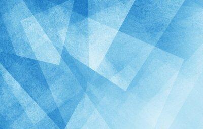 Naklejka nowoczesne streszczenie niebieskim tle projektu warstw teksturą białym przezroczystego materiału w trójkącie diamentu i placów kształtuje się w losowej geometryczny wzór