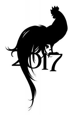 Nowy 2017 rok symbol koguta.