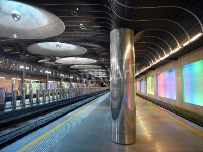 Naklejka Nowy dworzec kolejowy - Auckland architektury
