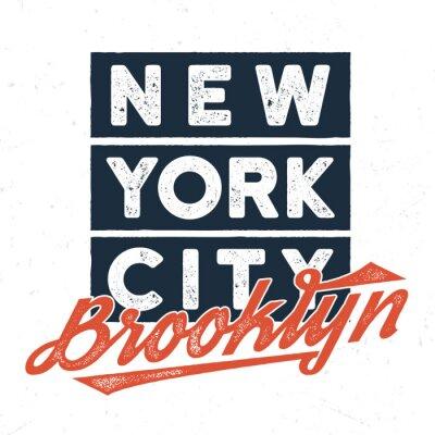 Naklejka Nowy Jork Brooklyn - Tee Design For Print