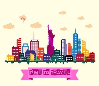 Naklejka Nowy Jork skyline miasta